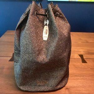 Victorias Secret Draw String Bag Midnight Glitter
